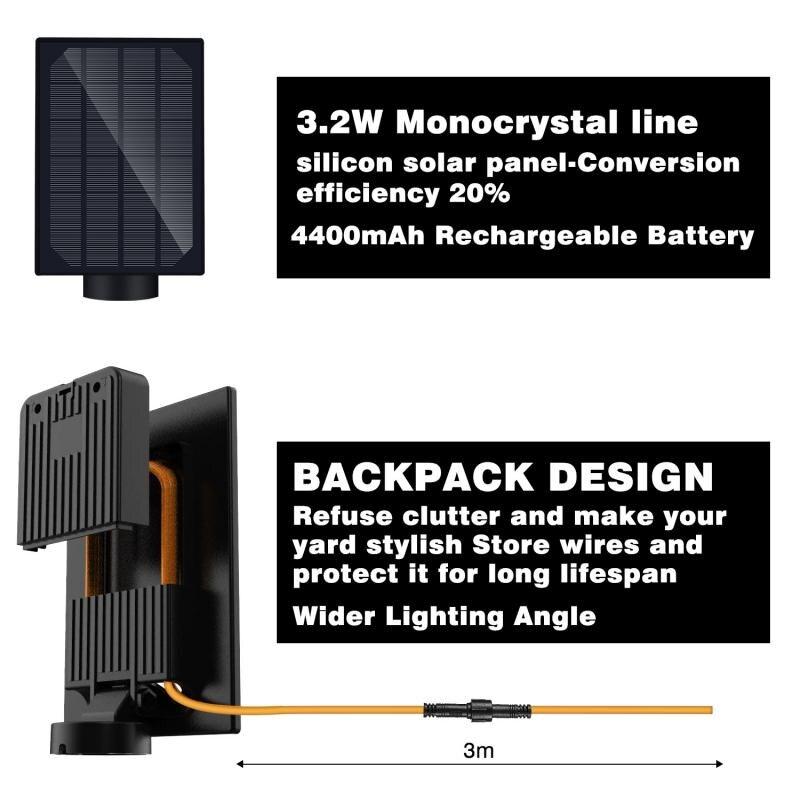 3 modos sensor de movimento lâmpada de