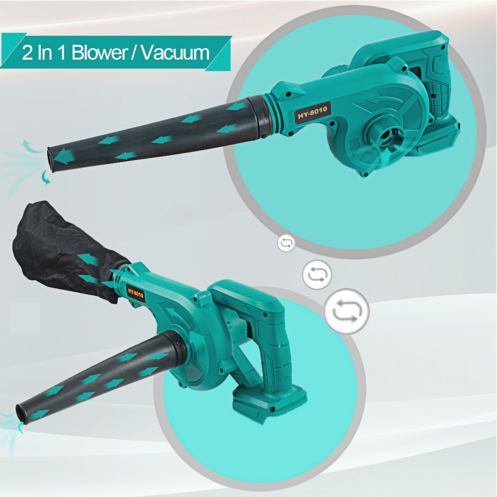 Tools : Rechargeable Air Blower For makita 18v Blower Dust Collector Computer dust Cordless Vacuum Cleaner 600W blower