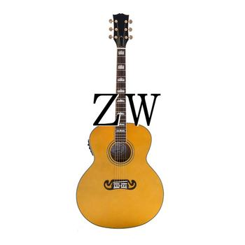 43in 6 Strings J200C Electric Acoustic Guitar Fishman EQ Solid Spruce Top Grover Tuner Bone Nut image
