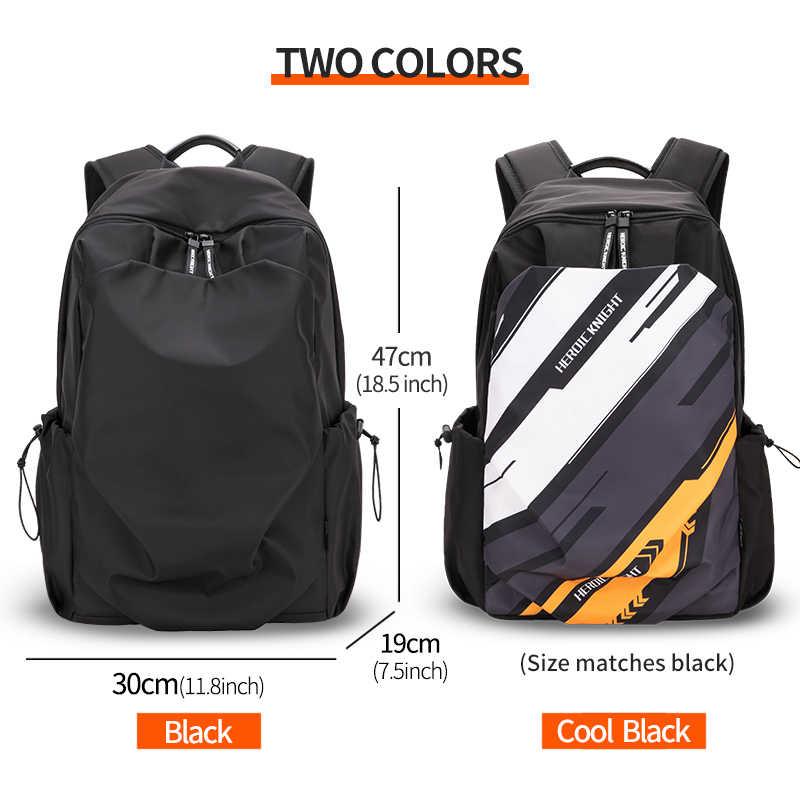 Kahraman şövalye erkekler moda sırt çantası 15.6 inç Laptop sırt çantası erkekler su geçirmez seyahat açık sırt çantası okul genç Mochila çantası