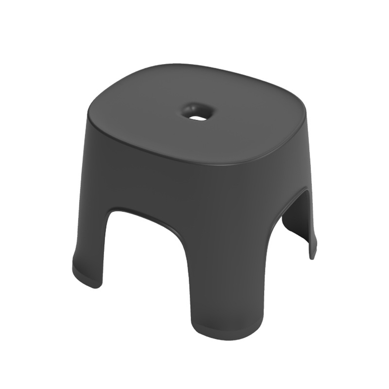 Small Bench Anti-Skid Coffee Table Plastic Simple Stool Adult Thickening Children'S Stool For Shoes Short Stool Black