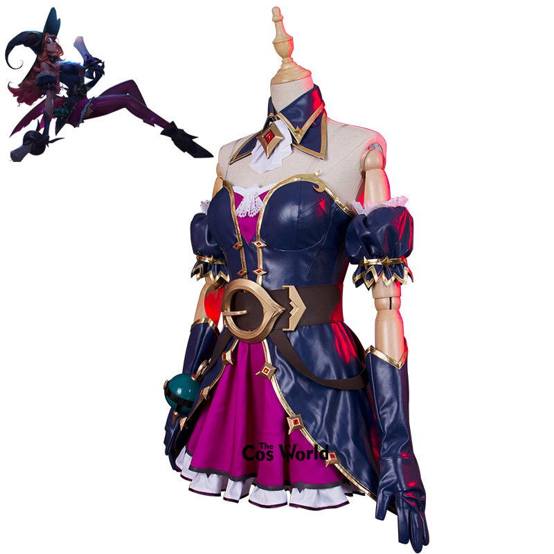 LOL the Bounty Hunter Miss Fortune Halloween Dress Uniform Outfit Games Cosplay Costumes 1