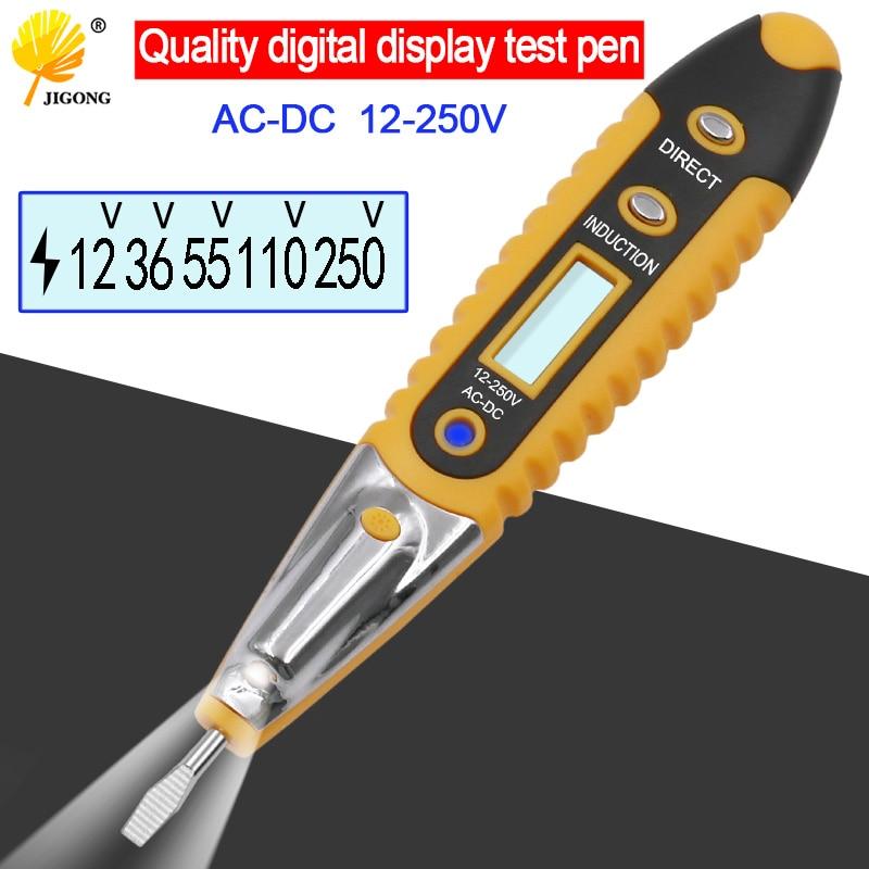 Digital Test Pencil Multifunction AC DC 12-250V Tester Electrical Test Pencil Detector Voltage Detector Test Pen