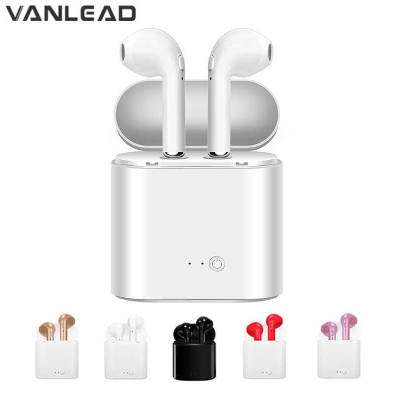 Hot Jual I7s Tws Bluetooth Earphone Stereo Earbud Wireless Earphone Bluetooth In-Ear Headset untuk Semua Ponsel Pintar Yang Kompatibel