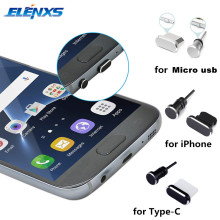 2 шт металлический зарядный порт+ 3,5 мм разъем для наушников Пылезащитная заглушка Замена для Android для iPhone для мобильного телефона type-C
