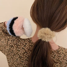 Simple fashion cute plush hair rope with personality hair ring hair accessories for women and sweet girl gifts wholesale
