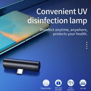 Image 2 - HOCO مصغر محمول UVC تطهير الأشعة فوق البنفسجية LED ضوء الهاتف المحمول واجهة USB التوصيل الطاقة المحمولة تعقيم UVC 270nm ل شاومي
