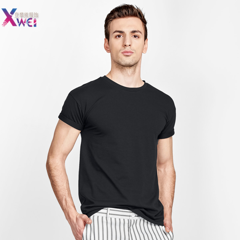 2020 New Solid Color T Shirt Mens Fashion 100% Cotton T-shirts Summer Short Sleeve Tee Boy Skate Tshirt Tops Plus Size S-M-3XL
