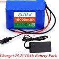 6s3p 24 в 18 Ач 18650 литиевая батарея 25,2 в 18000 мАч Электрический велосипед мопед/Электрический/литий-ионный аккумулятор с зарядным устройством