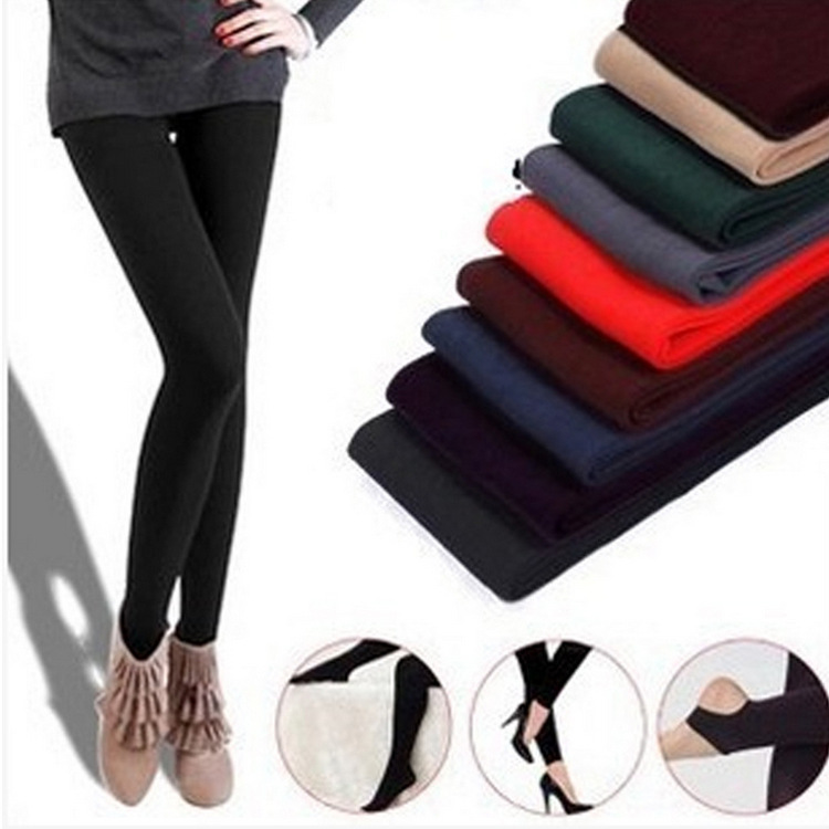 Autumn And Winter Fashion Capri La Sweat Pants Patyhose Stepping Student Leggings Outer Wear Hairy Pants