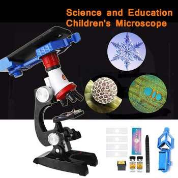 Zakres Kit Lab LED 100X 400X 1200X strona główna szkoła nauka zabawka edukacyjna prezent rafinowany zakres biologiczny dla dzieci dziecko tanie i dobre opinie ZEAST 500X i Pod PORTABLE Wysokiej Rozdzielczości Mikroskop biologiczny other Z tworzywa sztucznego Monokularowy