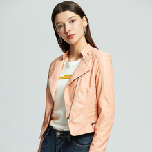 2019 New Women Fashion Faux Leather Jacket Motocycle and Biker Pu  Hot selling Drop Shipping
