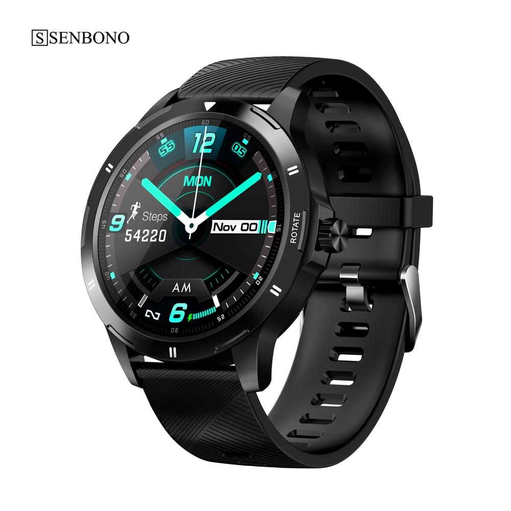 Senbono novo multi-dial relógio inteligente k15 termômetro de fitness monitor de freqüência cardíaca relógio inteligente masculino feminino smartwatch para telefone