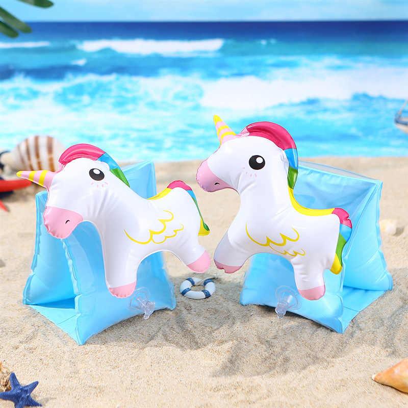 ילדים שחייה זרוע טבעת unicorn פלמינגו מתנפח בריכה לצוף עבור 2-7 שנים שרוולים שחייה טבעת זרוע לצוף