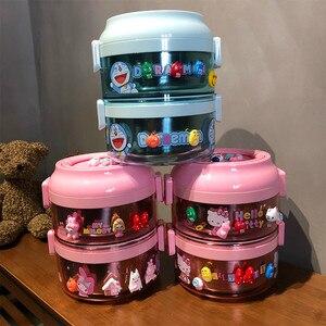 Hello Kitty Симпатичный Термоизолированный Ланч-бокс, герметичный Бенто-бокс из нержавеющей стали для детей, портативный школьный контейнер для...