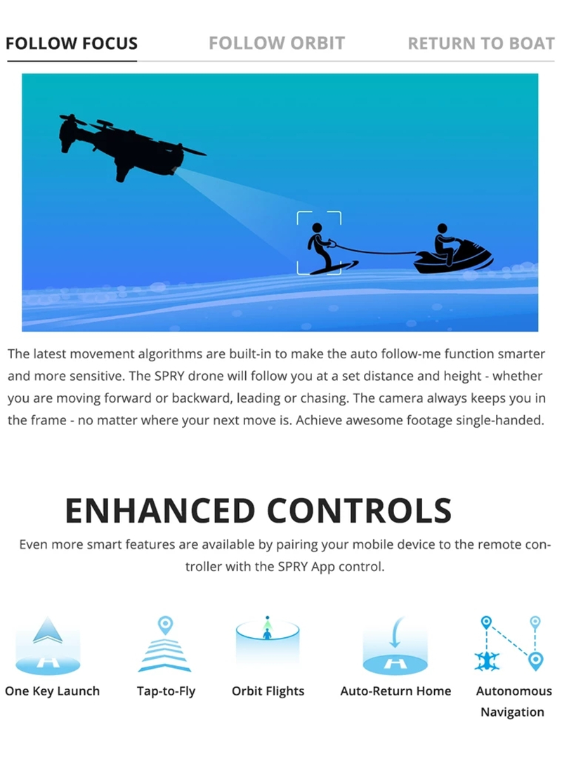 Portable Underwater Drone  Helicopter with 4K Camera-