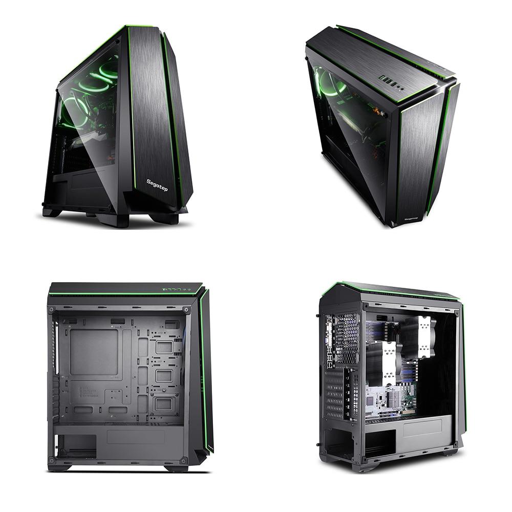DIY Computer E-ATX Gaming Case Support ATX/ M-ATX/ Mini-ITX With RGB LED Light Strip 7 PCI Slot SPCC 0.6mm Desktop Cases 1