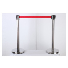 GALO Stainless steel fence/Security cordon/2m belt length Pillared retractable belt barrier for separated region a pair