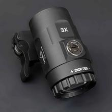 Tactical Red dot sight scope lente d'ingrandimento 3x adatta a mirino con Flip To Side Picatinny Weaver Rail Mount hunting