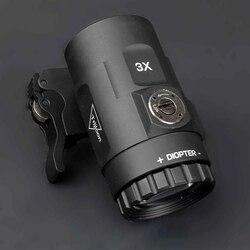 Tactical red dot sight scope 3x lupa se encaixa aimpoint vista com aleta para o lado picatinny weaver ferroviário montar caça