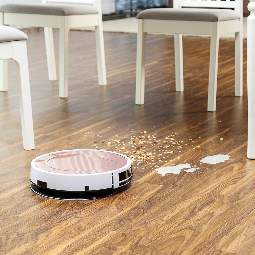ILIFE V7s Plus Robot aspirateur balayage et nettoyage humide désinfection pour sols durs et tapis course 120 minutes Charge automatiquement - 4