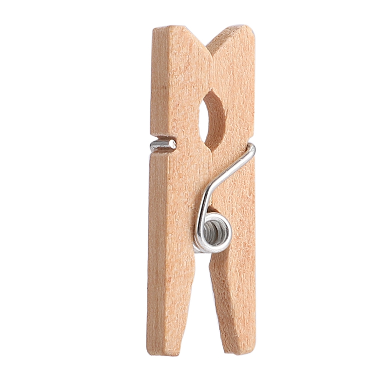 1000 Wooden Clothespin Mini Clothespins, 25mm Long