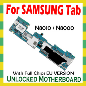 Image 2 - Unlocked Motherboard For Samsung Galaxy Tab Note 10.1 N8010 N8000 Tablet WLAN Cellular logic board full chips mainboard Android