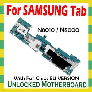 Image 2 - Unlocked anakart için Samsung Galaxy Tab not 10.1 N8010 N8000 Tablet WLAN cep mantık kurulu tam cips anakart Android