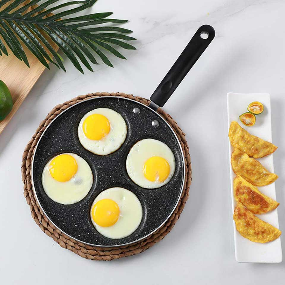 Four-hole Frying Pot Thickened Omelet Pan Non-stick Egg Pancake Steak Pan