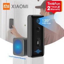 Xiaomi inteligente campainha 2 vídeo porteiro sem fio chamada de reconhecimento humanóide 1080p hd gravação para câmera olho mágico da porta casa