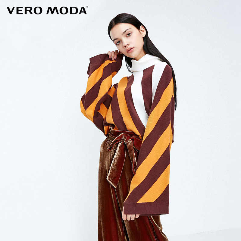 Vero Moda נשים פסים זרוק-כתף שרוולים לסרוג סוודר | 318324549