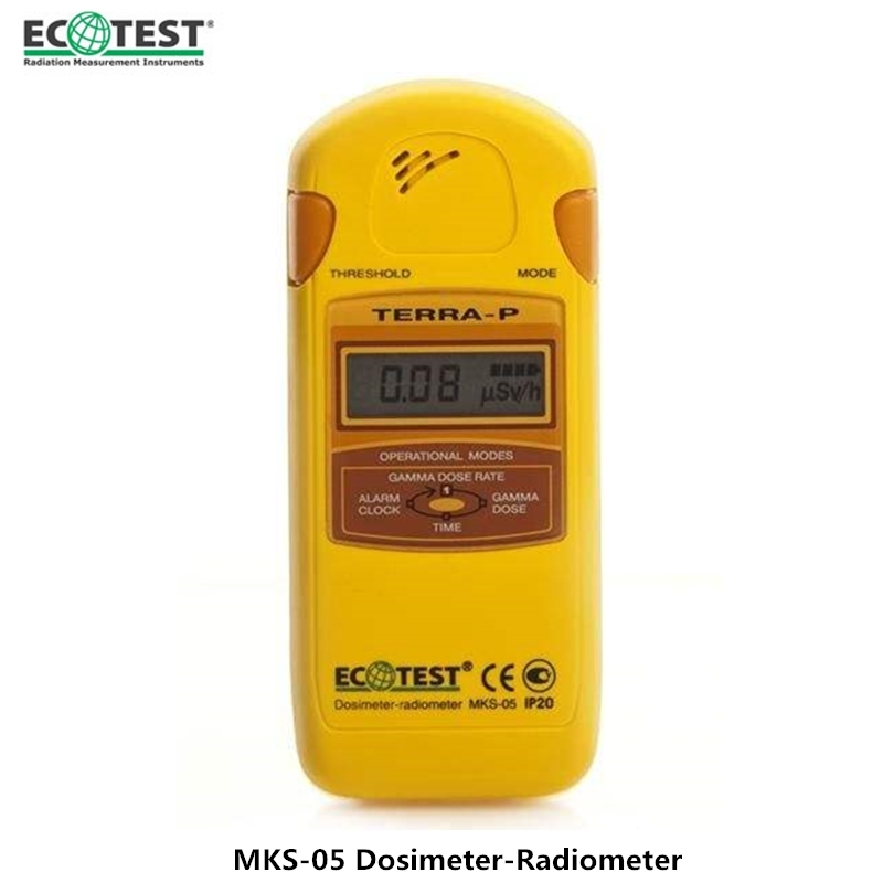 Genuine Ukraine Personal Radiation Detector MKS-05P Portable Beta Gamma And X-ray Geiger Counter Radiation Dosimeter