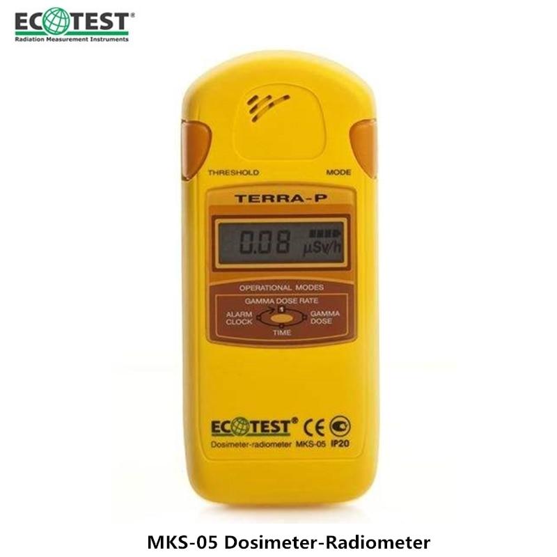 Genuine Ukraine Personal Radiation Detector MKS-05P Portable Beta Gamma And X-ray Geiger Counter Radiation Dosimeter