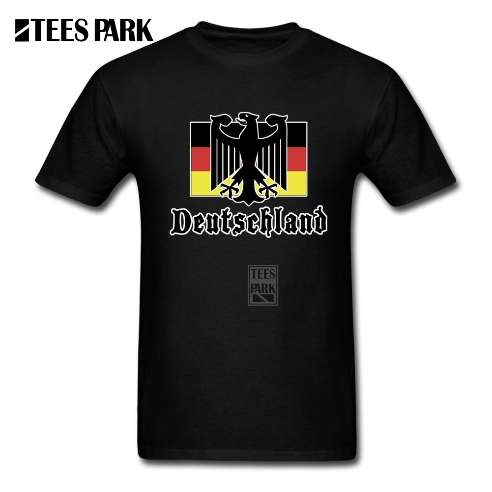 Unique T-Shirts <font><b>Deutschland</b></font> Flag Crest Germany Eagle Socceres Footballer Mens 100% Cotton Short Sleeve T Shirt Hot Youth Tees image