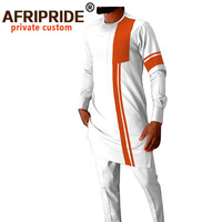 Tracksuit Men African Clothing Dashiki Coats and Ankara Pants 2 Piece Set African Suit Plus Size Outfits AFRIPRIDE A2016014