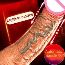 Vibrators Simulation Penis Female Remote Control Heating Telescopic Masturbator Vibrator Adult Women Product