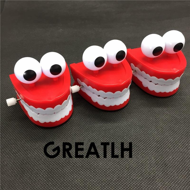 3pcs Toys Wholesale Creative Dental Gift Wholesale Spring Plastic Toys Jump Frog For Children Dental