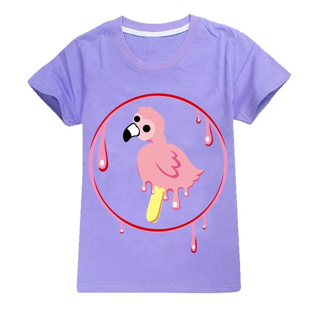 Youth Boy Tshirt Flamingo Flim Flam T-shirts for Girls Kids T Shirts Big Boys Short Sleeve Tees  Kids Summer Clothes Pink Shirt 2