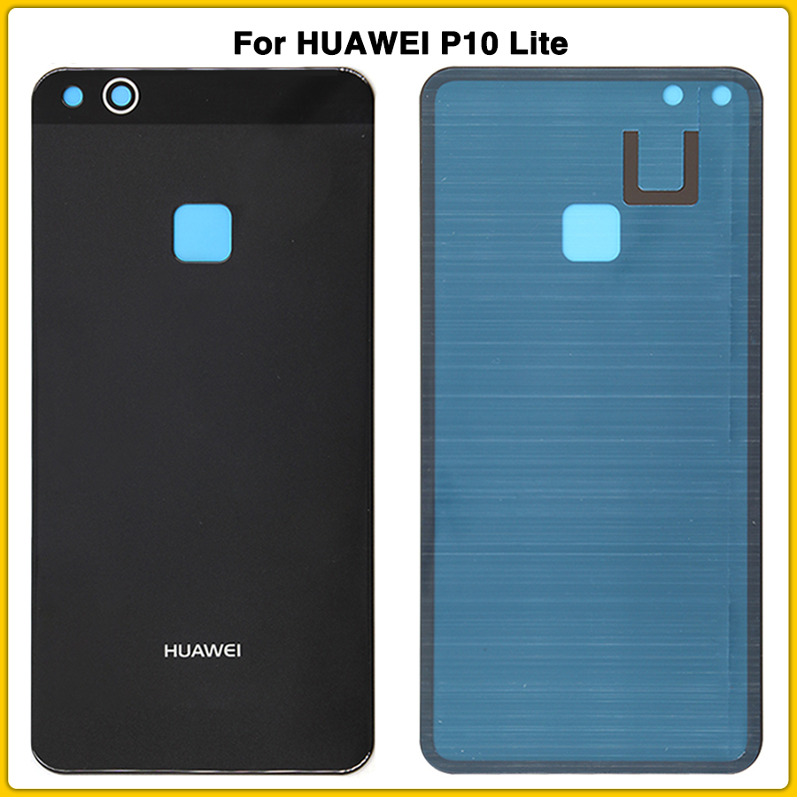 New P10Lite Rear Housing Case Glass For HUAWEI P10 Lite 5.2'' Battery Back Cover Door Rear Cover With Adhesive Sticker