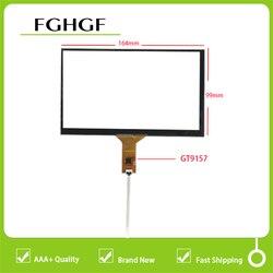 Novo ic de 7 polegadas: gt9157 6pin 164*99mm 165*100mm para o carro dvd gps player touch screen digitador sensor de vidro do painel de toque