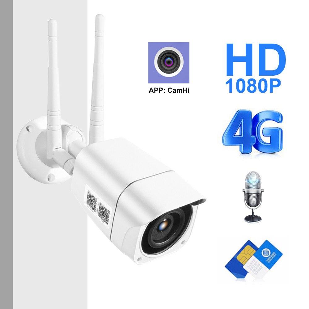 ZILNK 4G Cartão SIM 5MP HD Sem Fio Da Câmera IP 1080P WI-FI Ao Ar Livre Câmera Da Bala de Segurança CCTV Metal P2P onvif Áudio Bidirecional Camhi