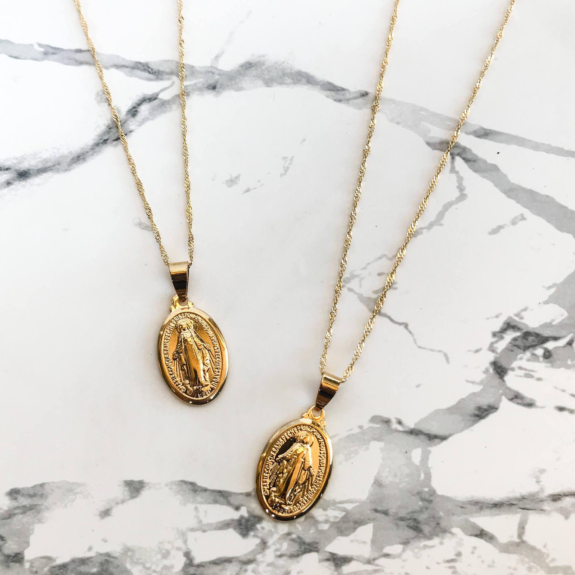 Крест религиозные аксессуары медальон Дева Мария ожерелье подарок, ожерелье с подвеской