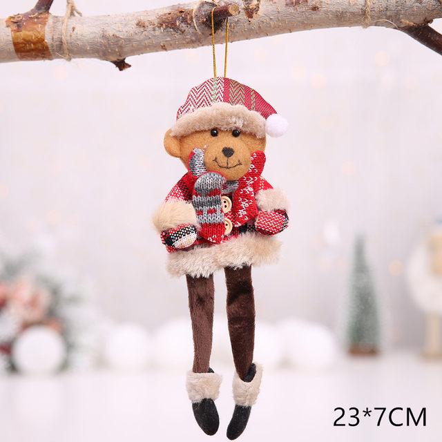 New Year 2020 Cute Santa Claus/Snowman/Angel Christmas Dolls Noel Christmas Tree Decoration for Home Xmas Navidad 2019 Kids Gift 56