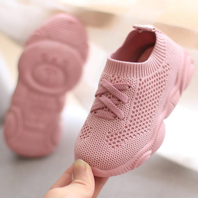 Baskets enfants chaussures antidérapant fond souple bébé Sneaker 2020 décontracté plat baskets chaussures enfants taille filles garçons chaussures de sport
