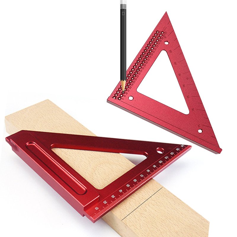 Метрическая треугольная линейка для столярных работ, измерительный инструмент для позиционирования квадратных отверстий, 6 дюймов, из алюм...
