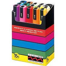 Uni POSCA Marker średni 15 zestaw kolorów PC 5M 15C Mitsubishi ołówek na bazie wody
