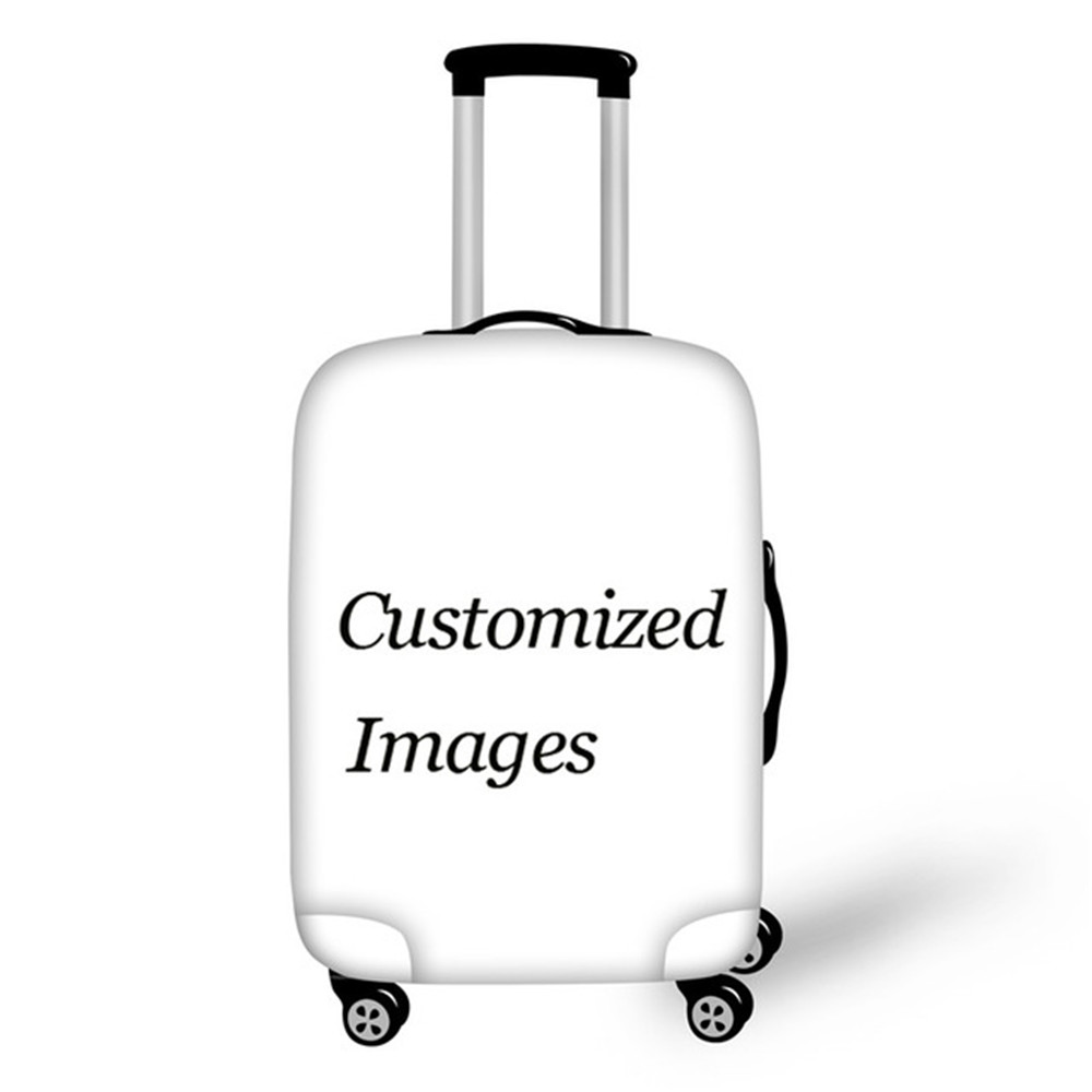 ELVISWORDS 2019 Luggage hood size 18-32 inch custom image / logo printing / wholesale dustproof waterproof luggage cover