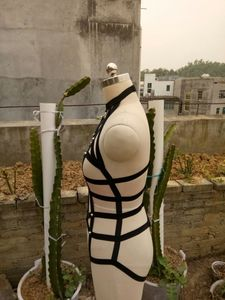 Image 5 - 여성용 바디 코르셋 넥타이 브래지어 속옷 벨트 세트 하네스 섹시한 가터 본디지 가슴 스트랩 나이트 클럽 파티 액세서리