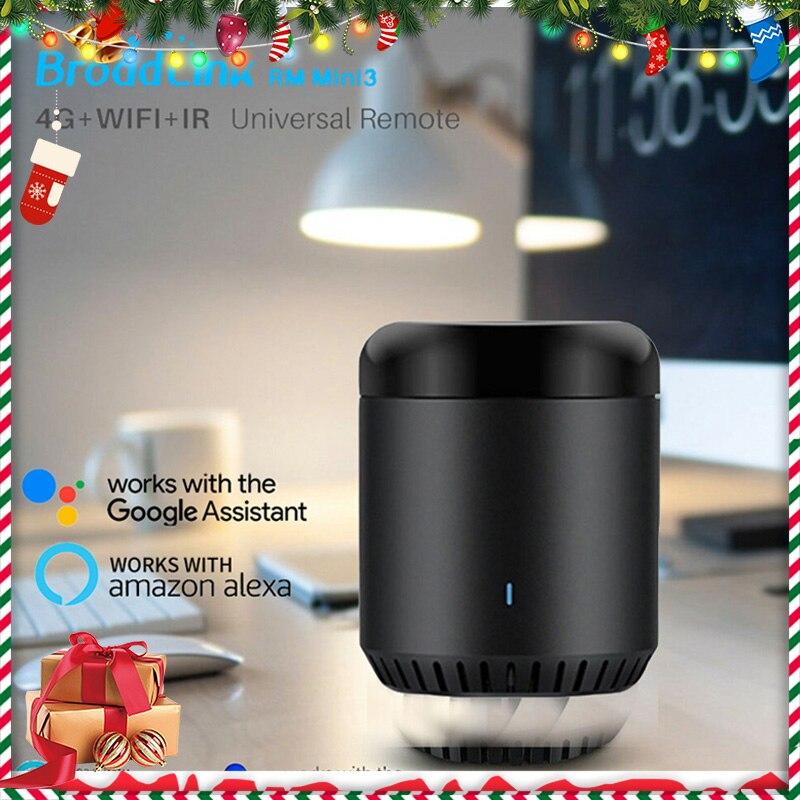Smart Home Broadlink RM Mini3 Controller Work For Alexa Google Home IFTTT APP Remote Control WiFi+IR+4G UK AU US EU Adapter