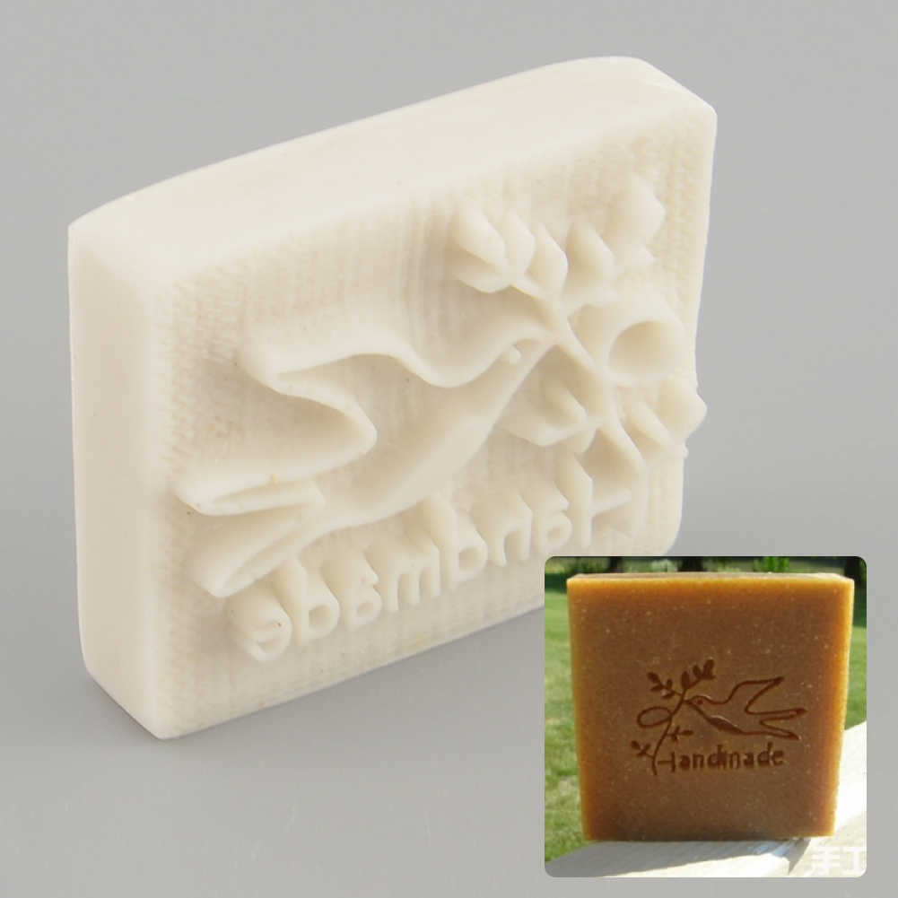 Silicon Soap Stamp Mold Mould DIY Handmade Yellow Craft Stamps Soap Pigeon Resin